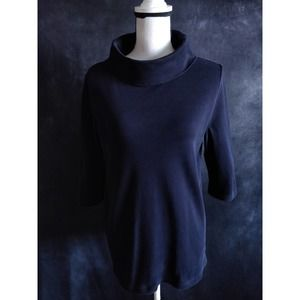 COS Navy Blue Cowl Neck Pullover Top XS